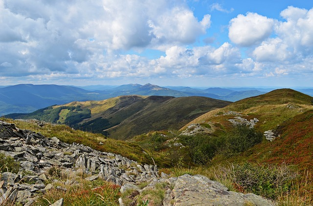 hory, výhled, zeleň