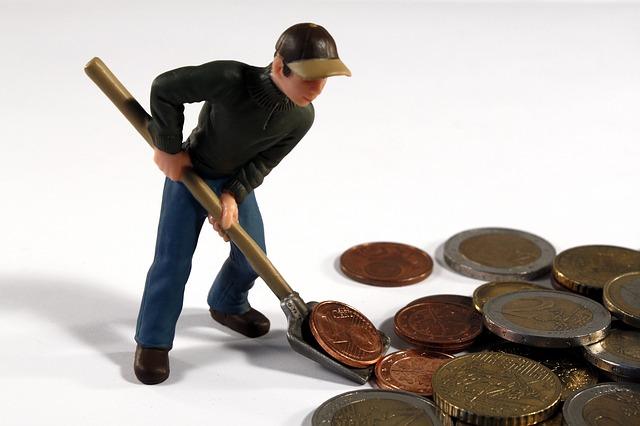 lopata na peníze