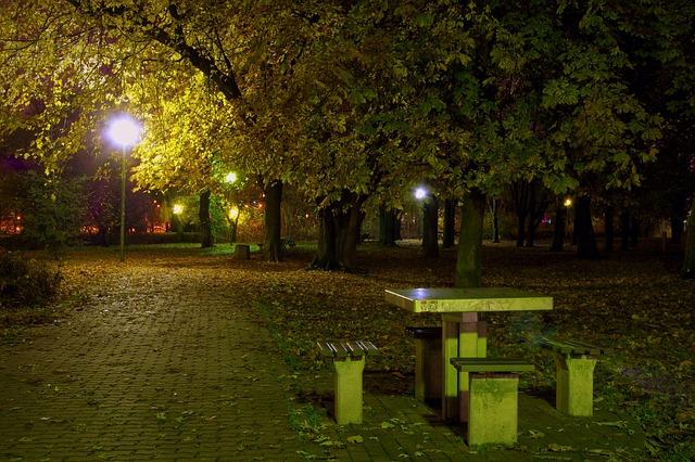 osvětlení parku sodíkovými výbojkami