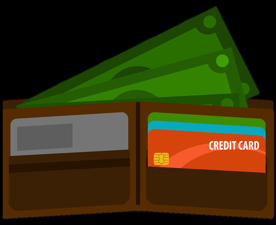 nakreslená peněženka